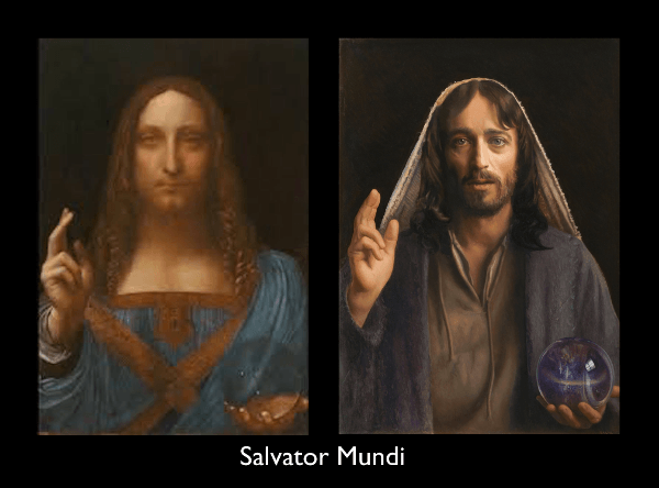Leonardo da Vinci, and Mark Balma's painting inspired by